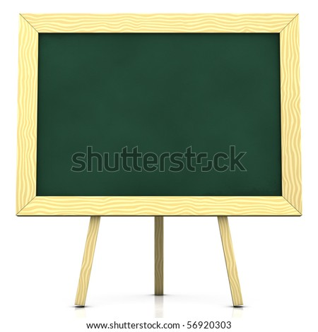 3d rendering/illustration of a blank blackboard