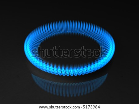 3d rendering illustration of gas flame - stock photo