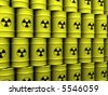 3d rendering illustration of toxic waste barrels - stock vector