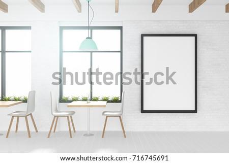 3 D Rendering Illustration White Frame Mockup Stock Illustration ...