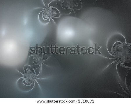 3D rendering in silver shades, very suitable as a background - stock photo