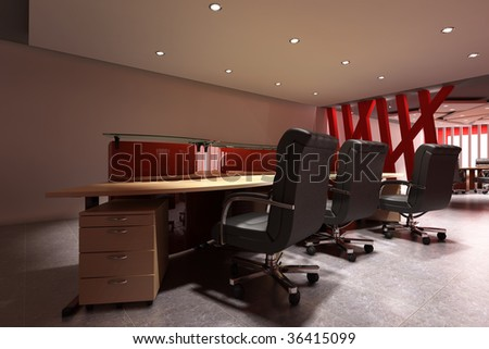 3d rendering interior of a modern office