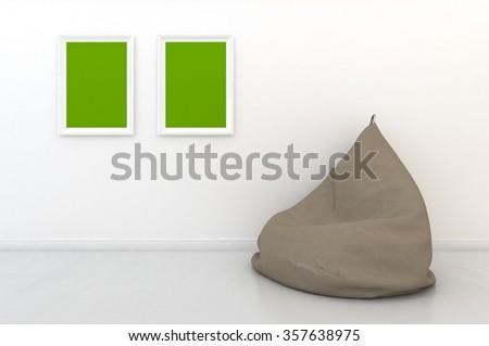 3d rendering interior scene  - stock photo