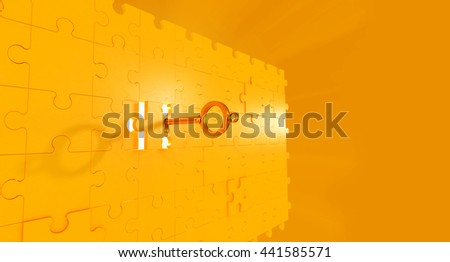 3d rendering ,jigsaw puzzle,business concept for completing