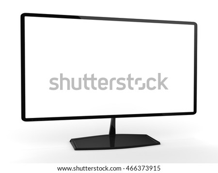 3D rendering model of the modern TV