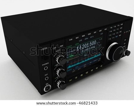 3d rendering of a Amateur Radio.