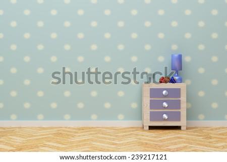 3d rendering of a beautiful children nightstand - stock photo