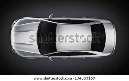 3d rendering of a brandless generic silver car of my own design in a studio environment
