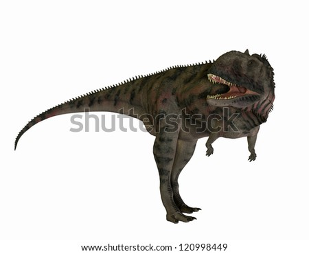 3D rendering of a carnivorous dinosaur