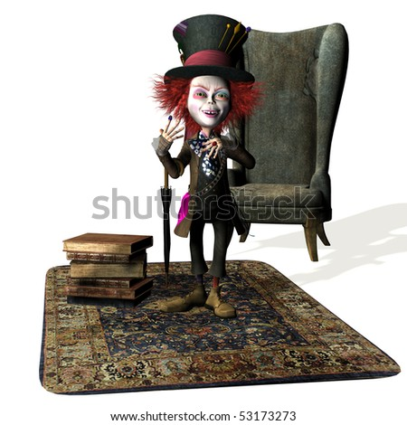 3D rendering of a character for a kids storybook - stock photo