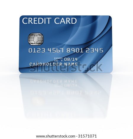 3d rendering of a credit card - stock photo