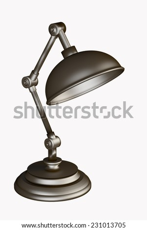 3d rendering of a desk lamp