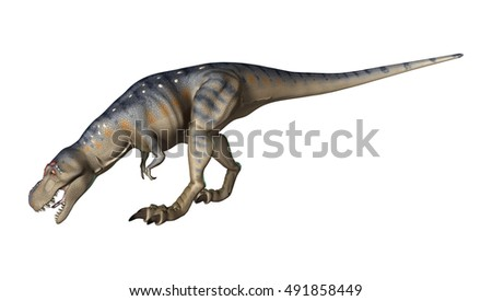 3D rendering of a dinosaur Tyrannosaurus isolated on white background