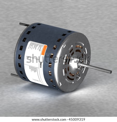 3d rendering of a direct drive motor