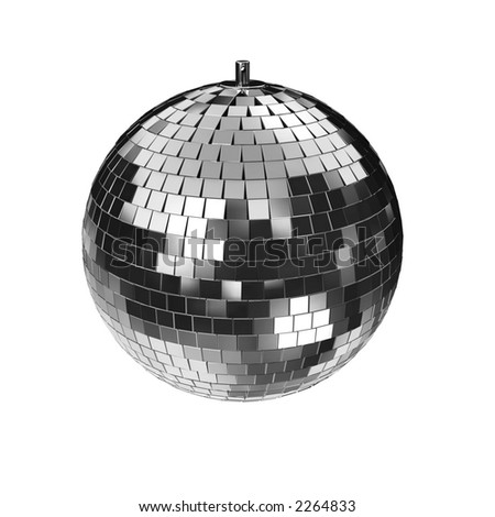 3d rendering of a disco mirrorball. check my portfolio for variations of this mirror-ball. - stock photo