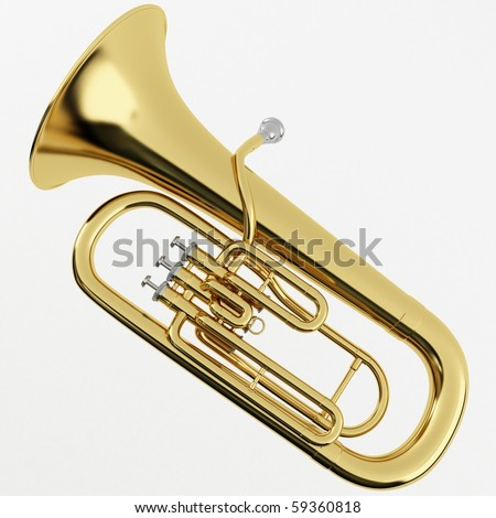 3d rendering of a Euphonium