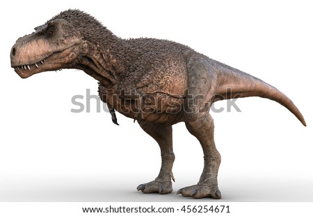3D Rendering of a feathered Tyrannosaurus Rex.