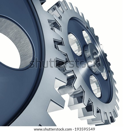 3d rendering of a gears concept - stock photo