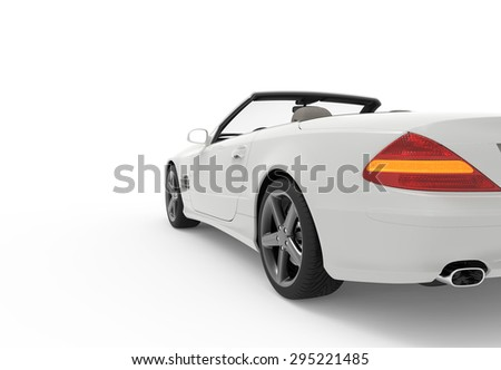 3d rendering of a generic white car