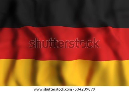3d rendering of a german flag waving
