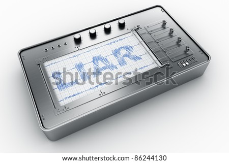 3d rendering of a lie detector - stock photo