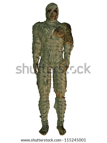 3d rendering of a mummy as illustration - stock photo