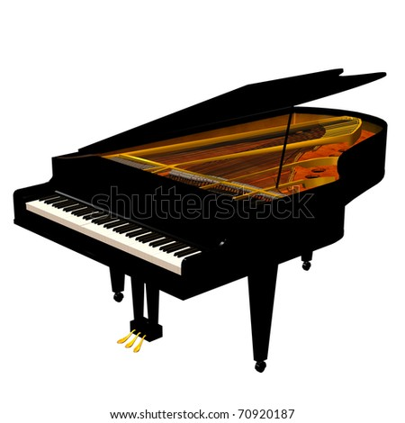 3d rendering of a piano as an illustration