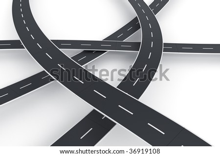3d rendering of a road spaghetti