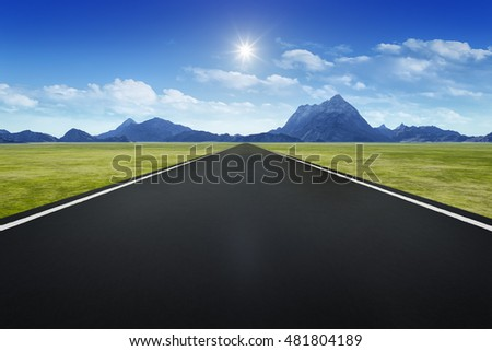 3d rendering of a road to horizon background