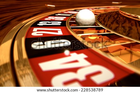 3D rendering of a roulette background - stock photo