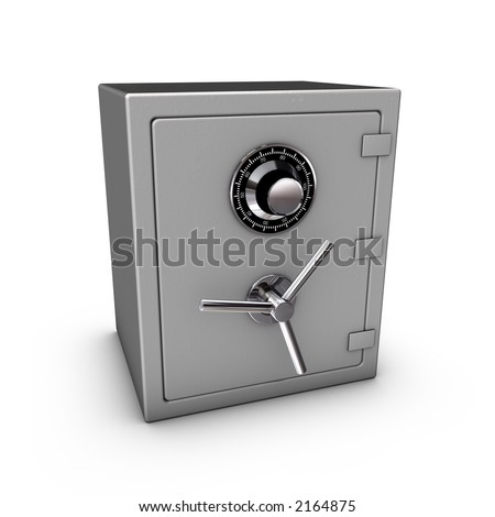 3d rendering of a safe - stock photo