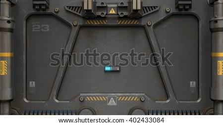 3 D Rendering Sci Fi Door Keypad Stock Illustration