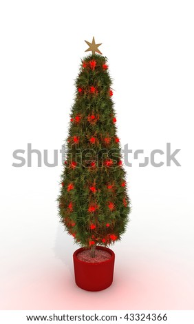 3d rendering of a stylized christmas tree