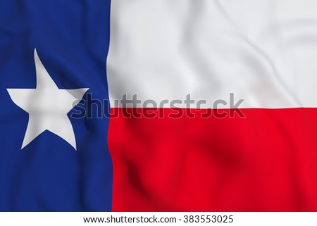 3d rendering of a Texas flag waving - stock photo