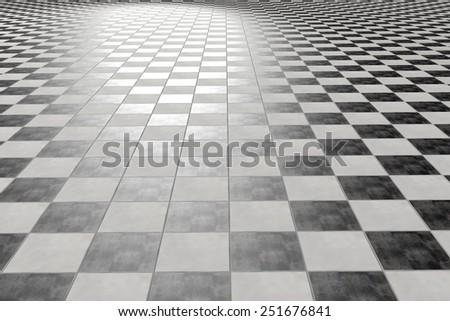 3d rendering of a tiles floor - stock photo