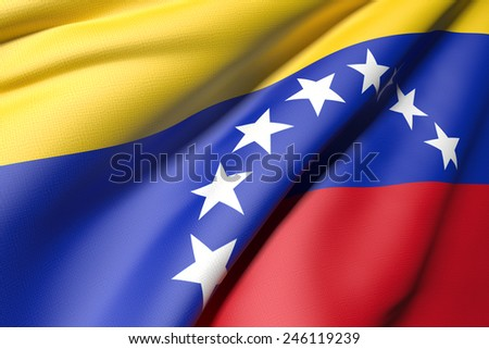 3d rendering of a venezuela flag - stock photo