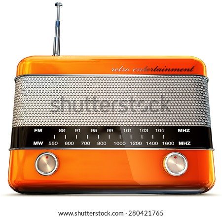 3D rendering of a vintage radio