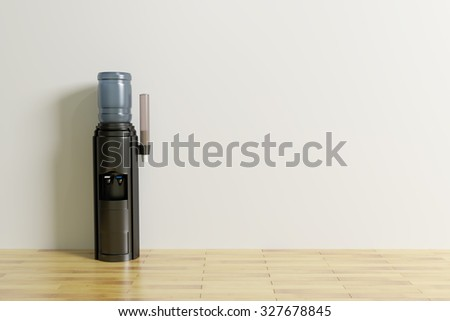 3d rendering of a water dispenser in an office - stock photo