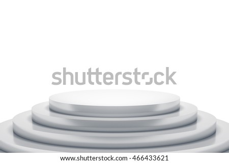 3d rendering of a white podium with space for your content