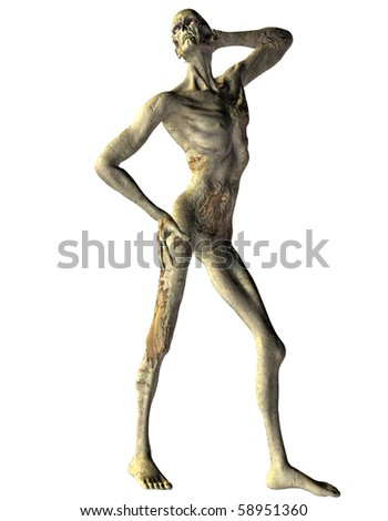 3D rendering of a zombie in Model Pose