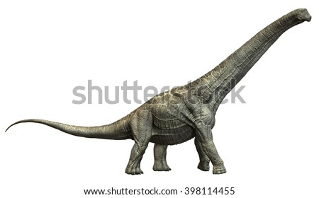 3D Rendering of Alamosaurus. - stock photo