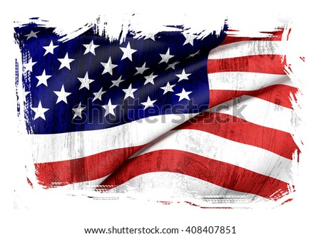 3d rendering of an old and dirty Usa flag waving