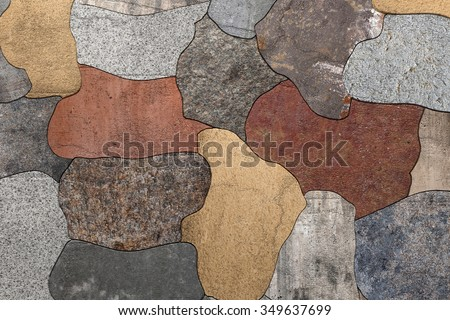 3d rendering of an old stones floor - stock photo