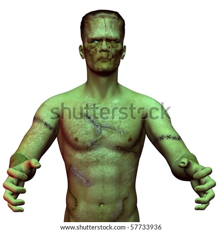 3D rendering of an undead monster - stock photo