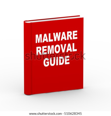 3d rendering of book of malware removal guide