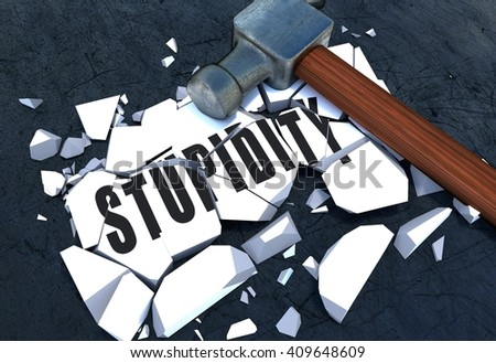 3D rendering of Breaking Stupidity symbol