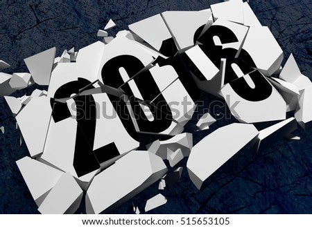 3D rendering of Breaking 2016 symbol