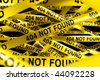 3d rendering of Caution tape with 404 NOT FOUND written on it - stock photo