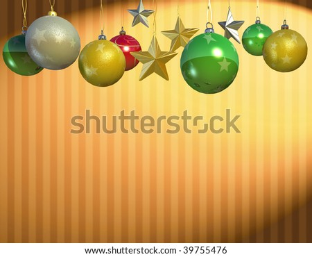 3d rendering of Christmas ball ornament