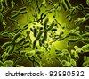 3d rendering of chromosomes - stock photo